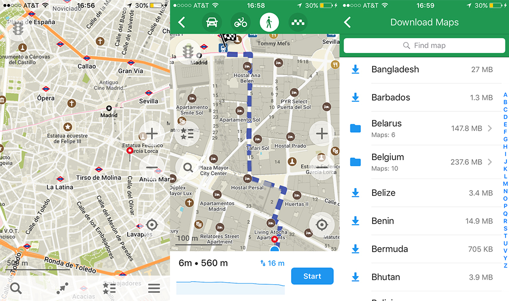 Best travel apps: maps.me